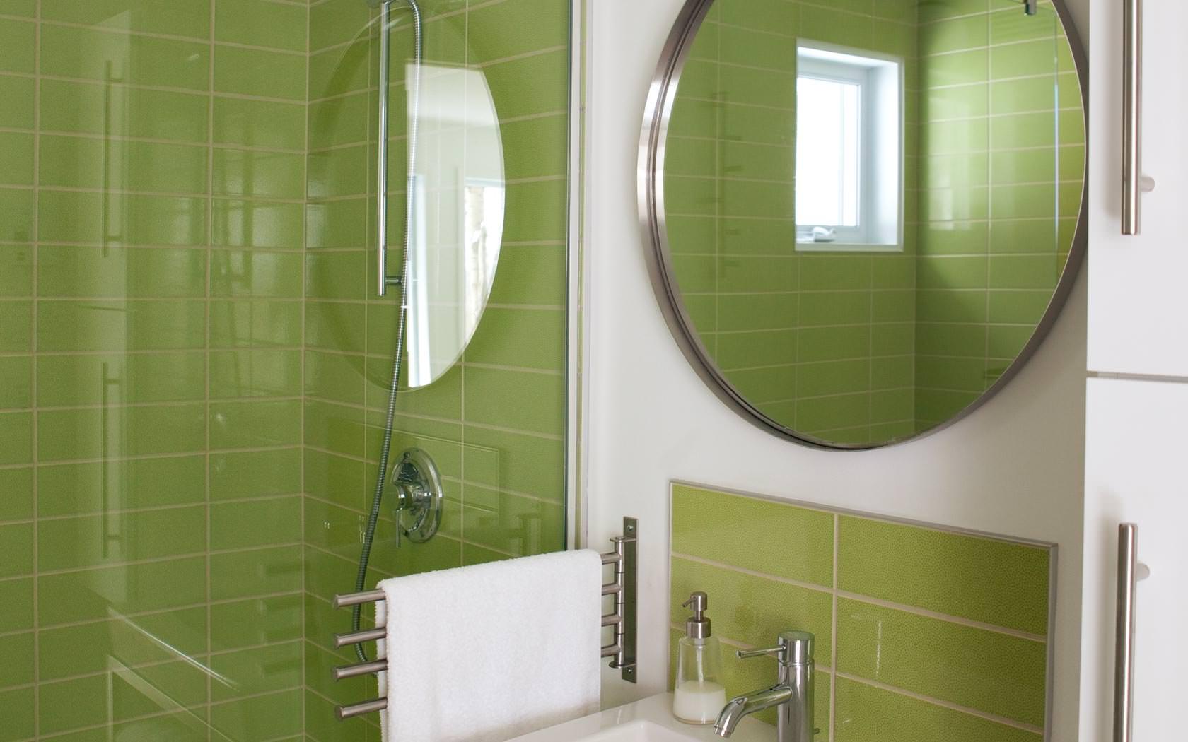 Salle de bain verte conceptions architecturales for Salle de bain verte